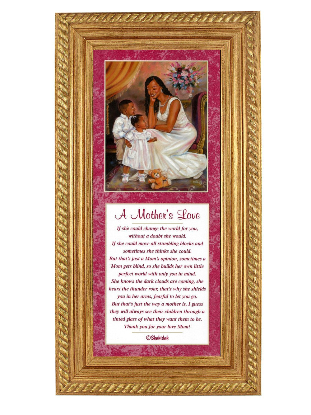 Mother's Love by Mesij and Shahidah (Gold Rope Frame)