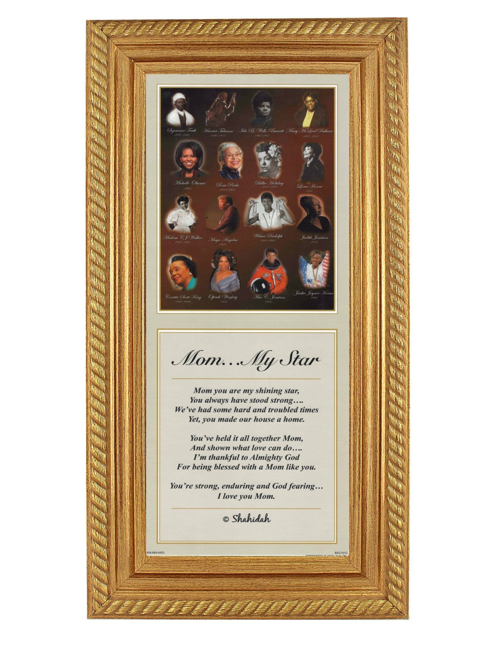 Mom My Star By Shahidah Gold Rope Frame The Black Art Depot