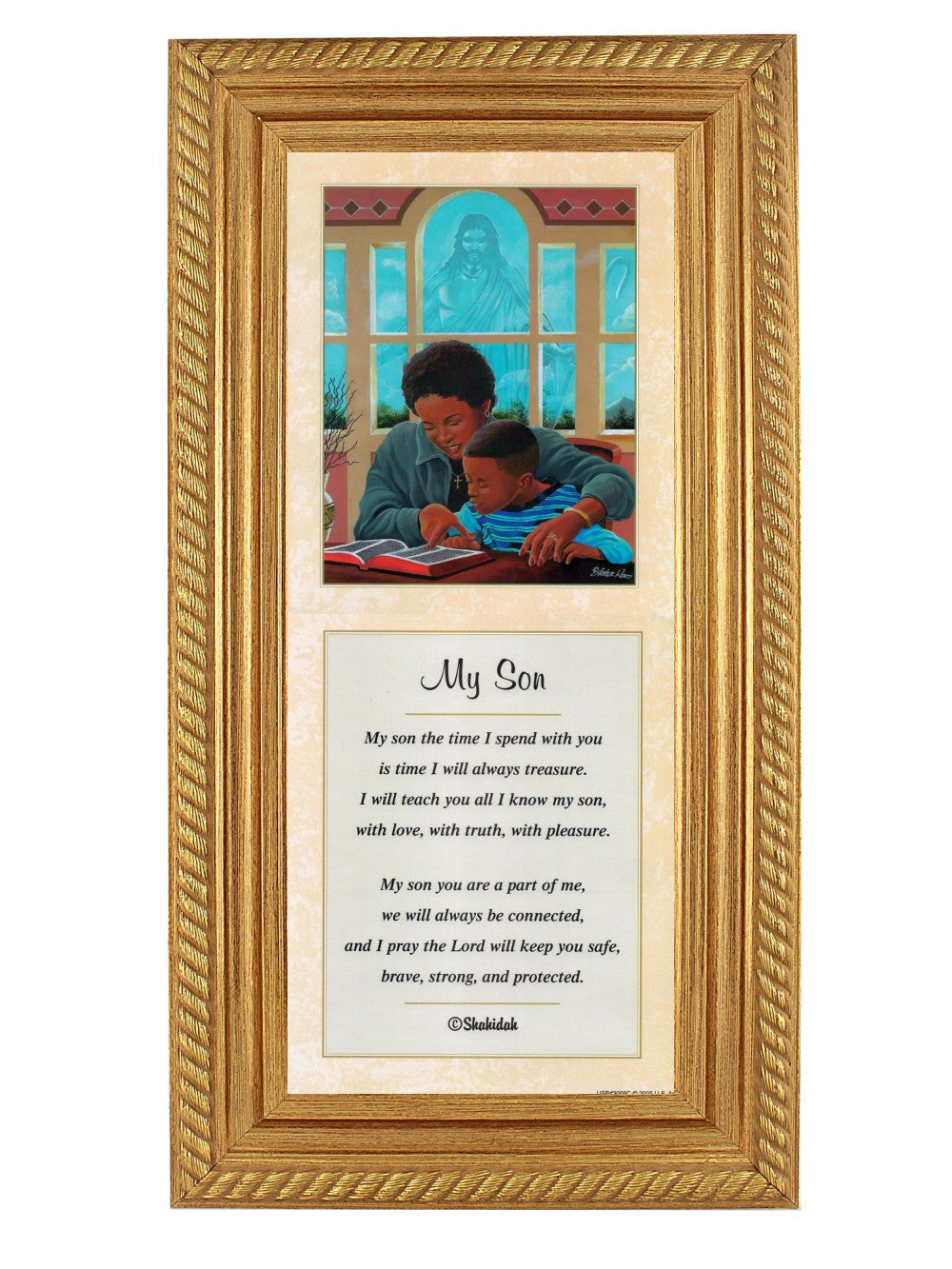 My Son by Lester Kern and Shahidah (Gold Rope Frame)