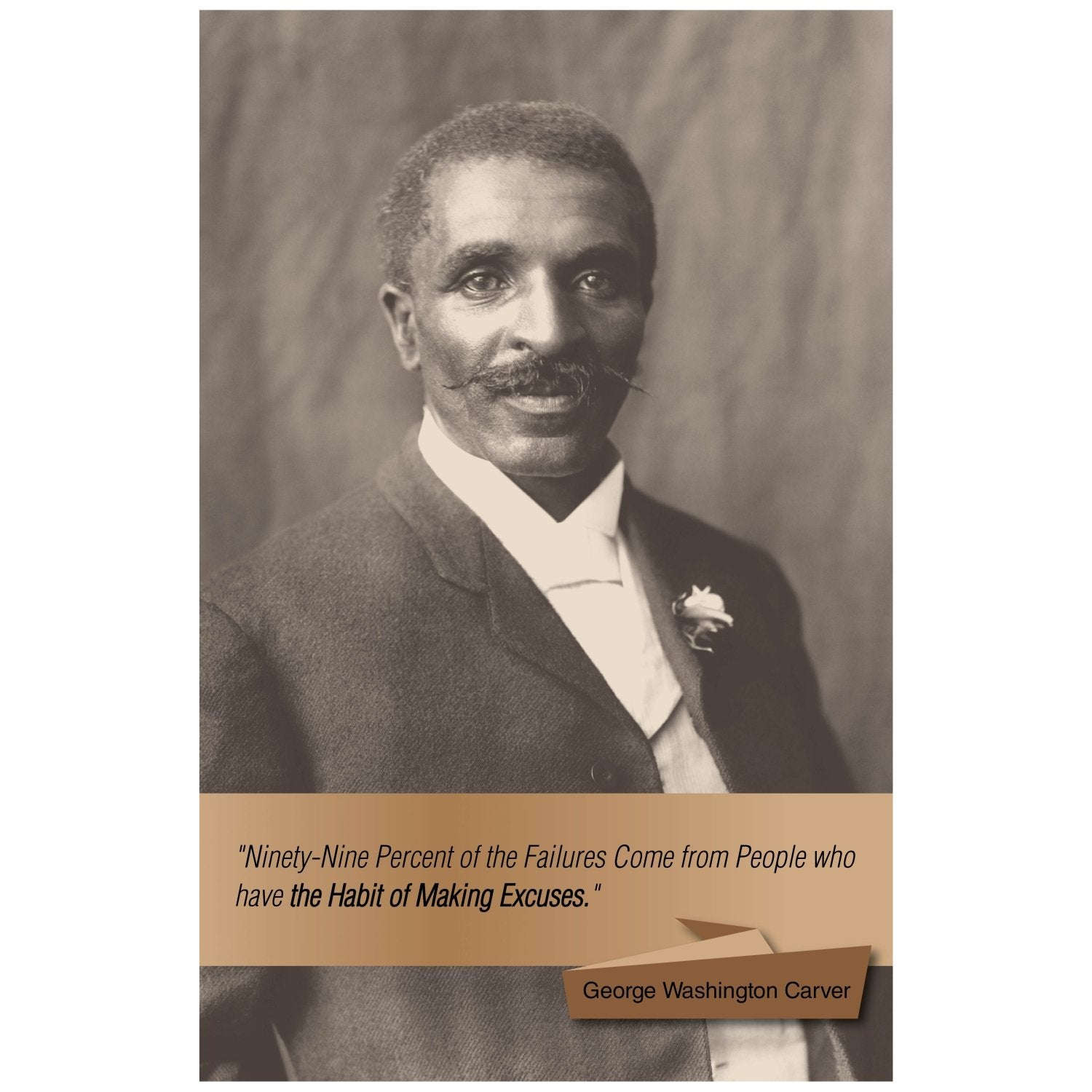 George Washington Carver: Excuses by Sankofa Designs