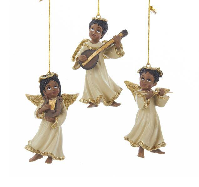Musical Angels II: African American Christmas Ornaments by Kurt Adler