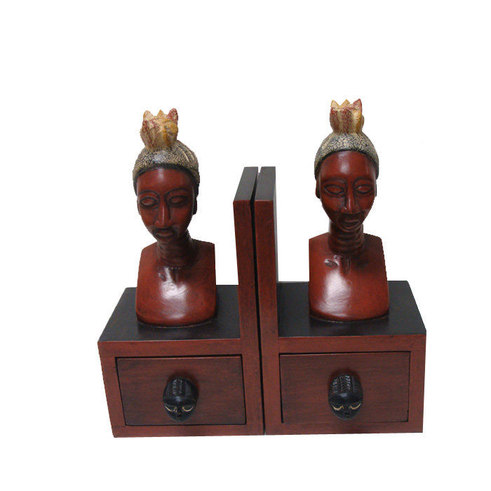 African Queen Bookends (Hand Made in Ghana)