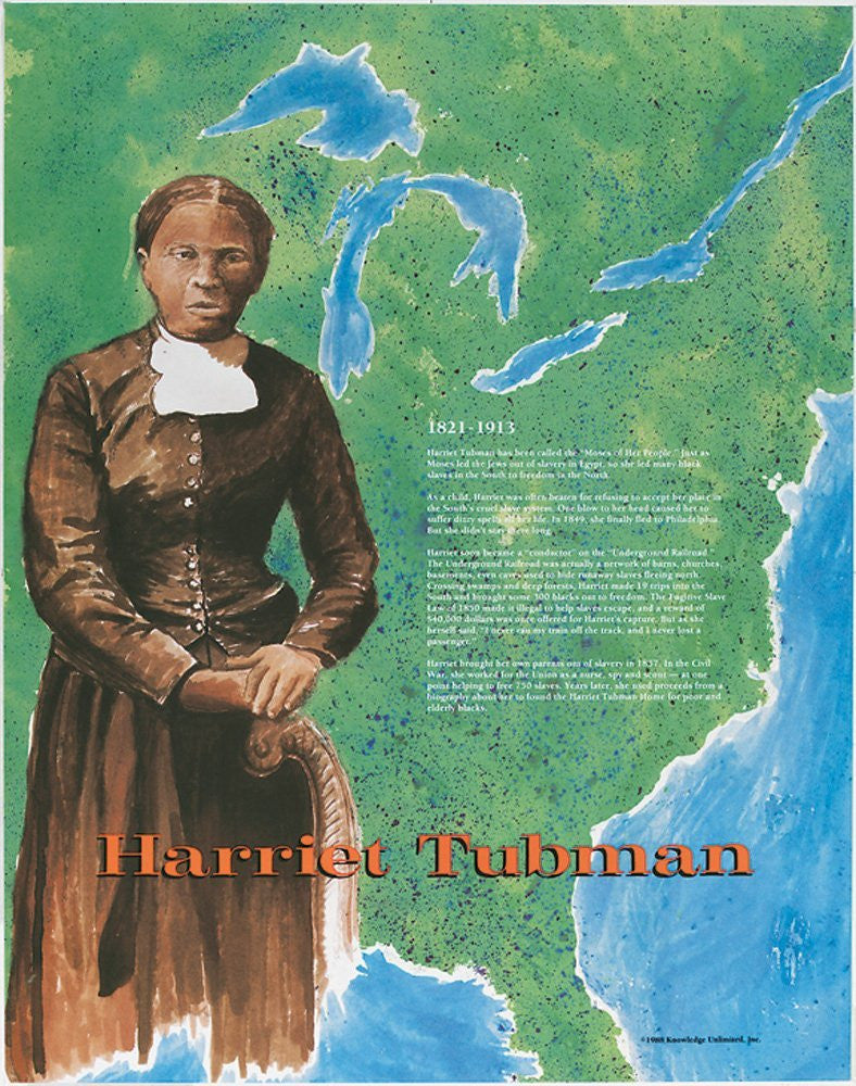 Great Black Americans: Harriet Tubman Poster by Knowledge Unlimited