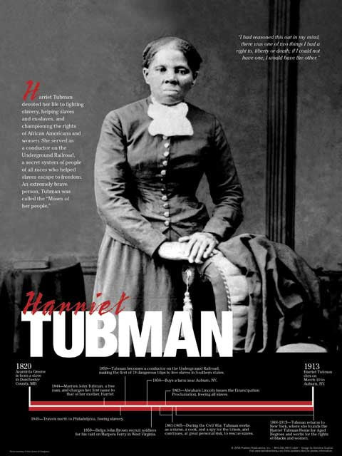 Harriet Tubman Timeline Poster by Techdirections