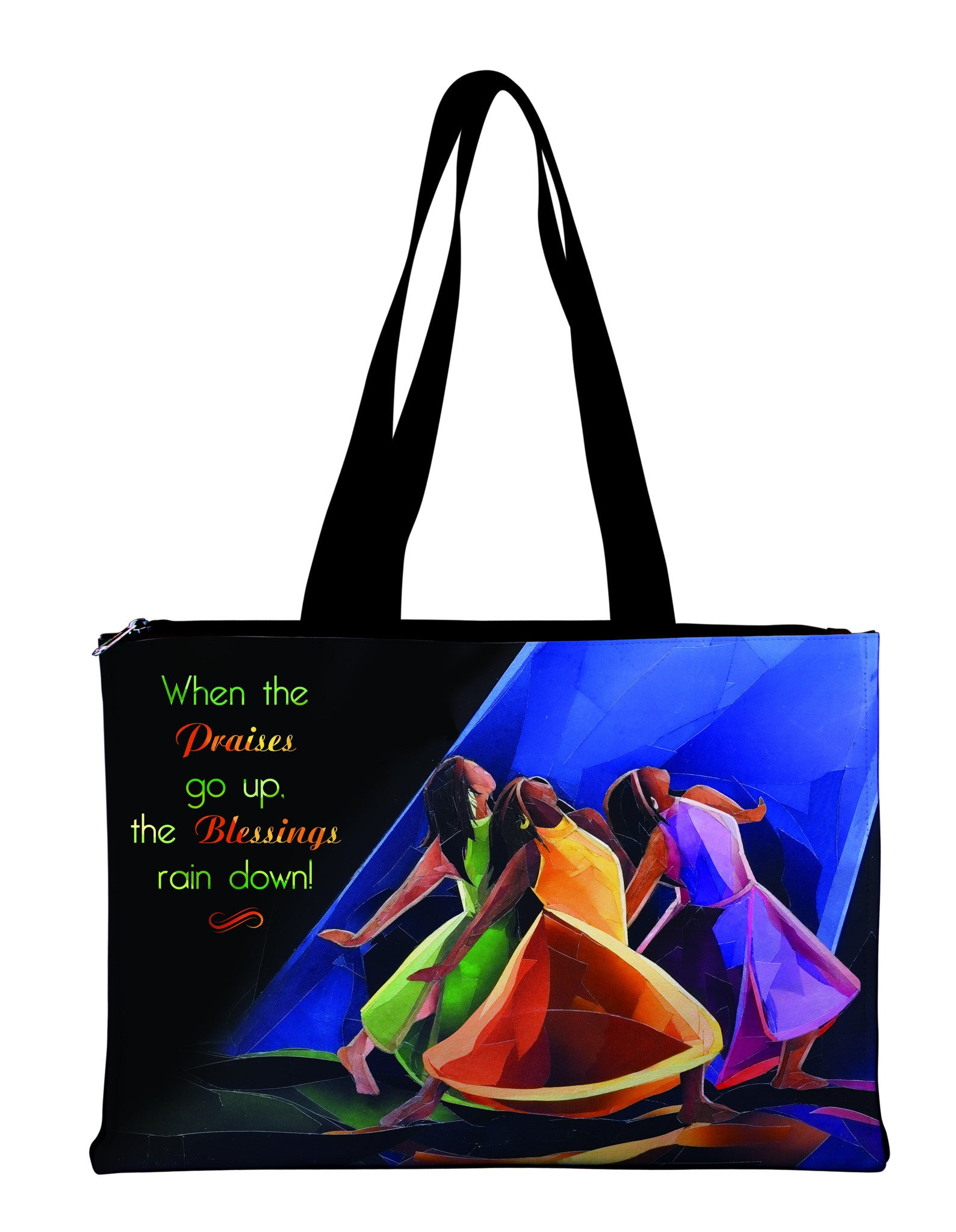When Praises Go Up: African American Hand Bag by Carl M. Crawford