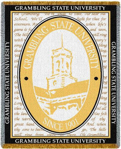Grambling State University Tapestry Throw III