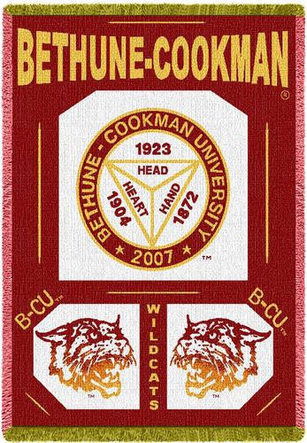 Bethune-Cookman University Tapestry Throw III