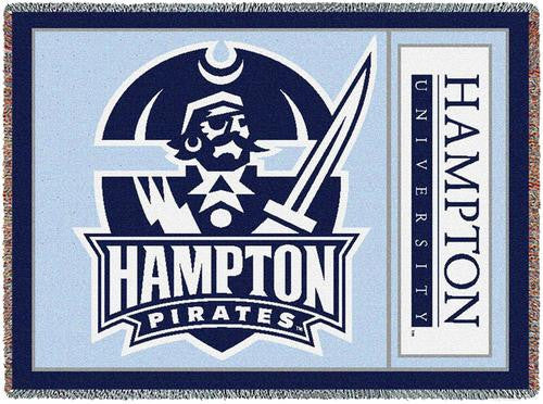 Hampton University Tapestry Throw