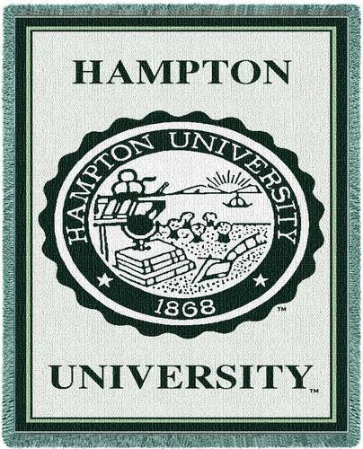 Hampton University Tapestry Throw II