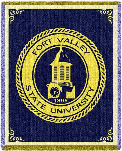 Fort Valley State University Tapestry Throw