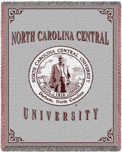 North Carolina Central University Tapestry Throw
