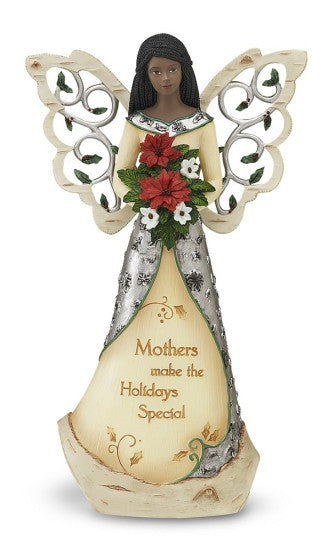 Mother Angel With Bouquet Figurine by Holiday Elements