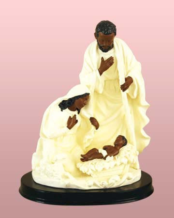 Holy Family (White): African American Nativity Figurine
