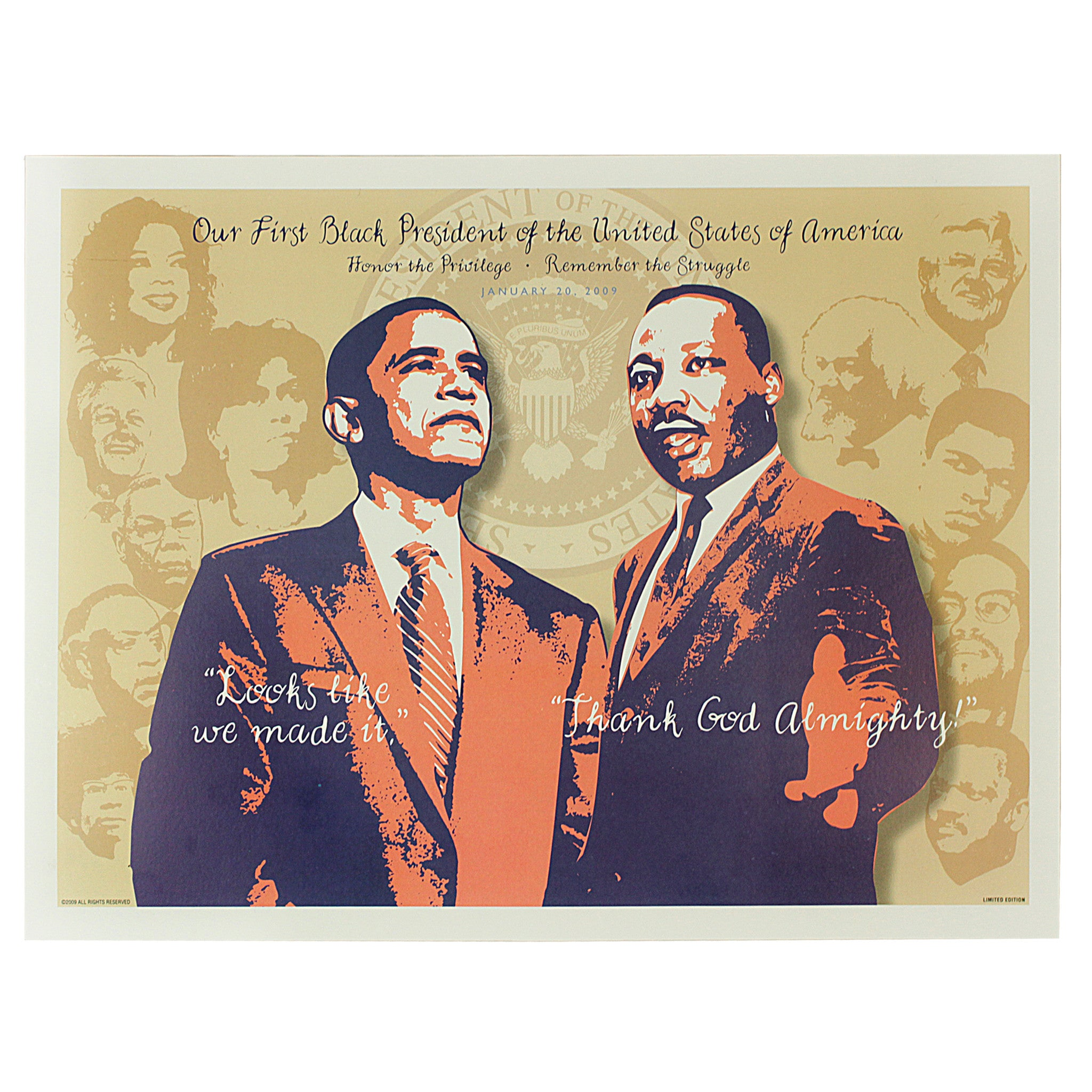 Honor the Priveledge and Remember the Struggle: Barack Obama and Dr. Martin Luther King, Jr.