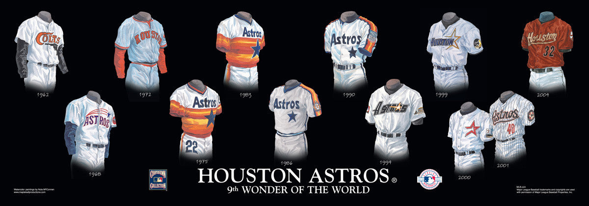 Houston Astros: Ninth Wonder of the World Poster by Nola McConnan and William Band