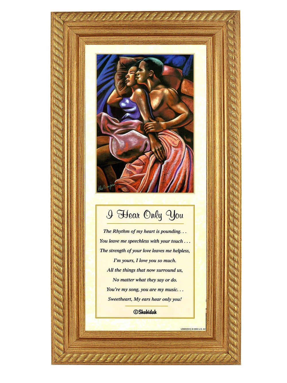 I Hear Only You by Alix Beajour and Shahidah (Gold Rope Frame)