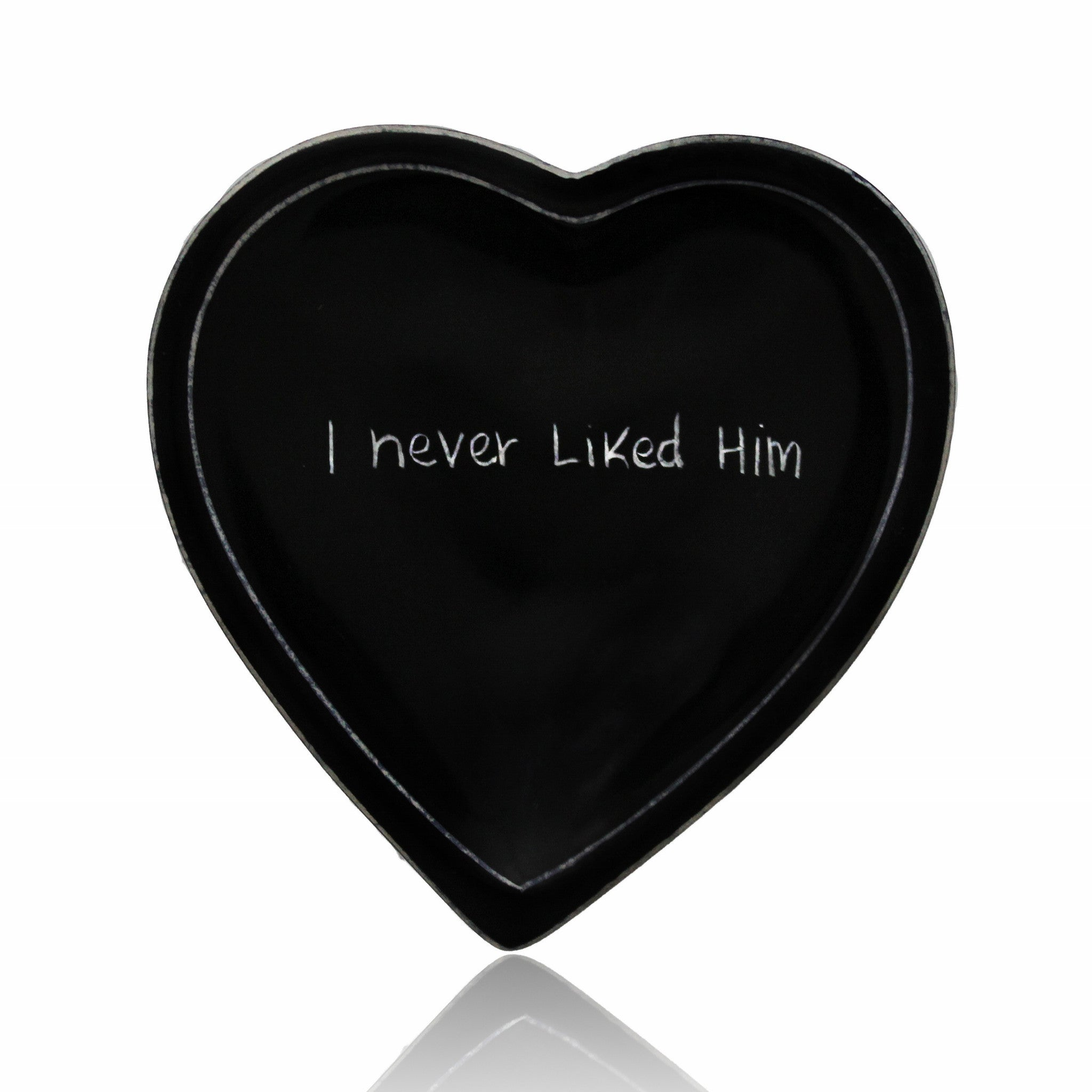 I Never Liked Him Kenyan Heart Shaped Soap Stone Dish by Venture Imports