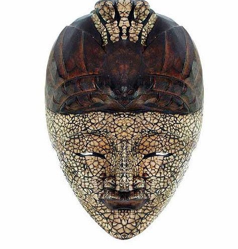 Hand Made Indonesian Eggshell Bird Mask by Stoneage Arts Global