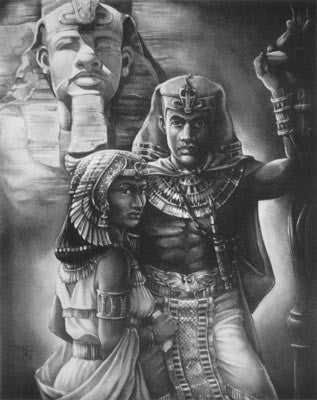 Amenophis III And Tiyi by Jay C. Bakari