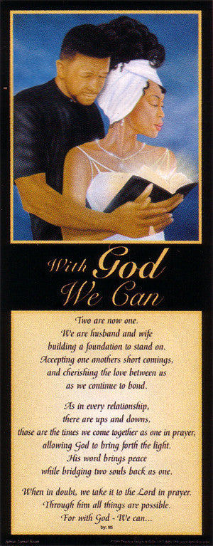 With God, We Can (Literary Print - Black) by Jamal Scott