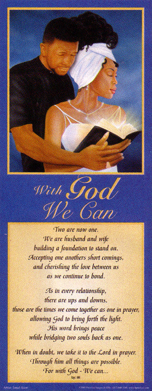 With God, We Can (Literary Print - Blue) by Jamal Scott