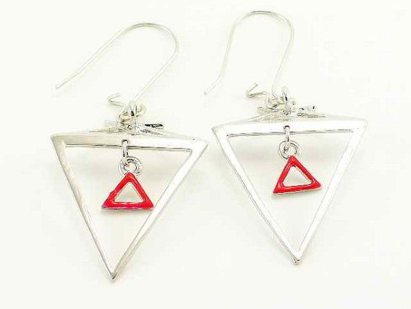 Hanging Delta Sigma Theta Earrings