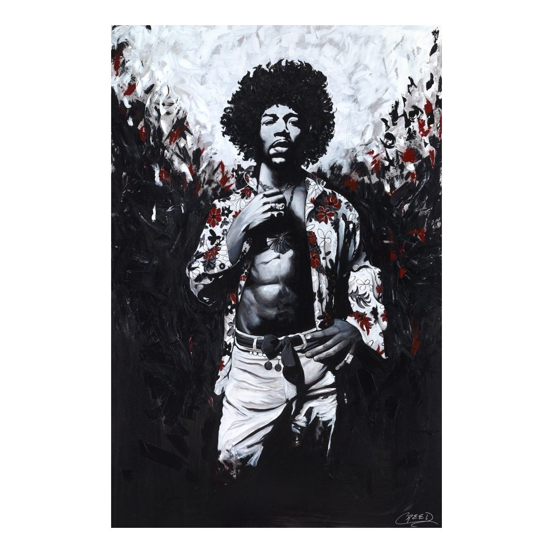 "Jimi Hendrix by Cecil ""CREED"" Reed Jr."
