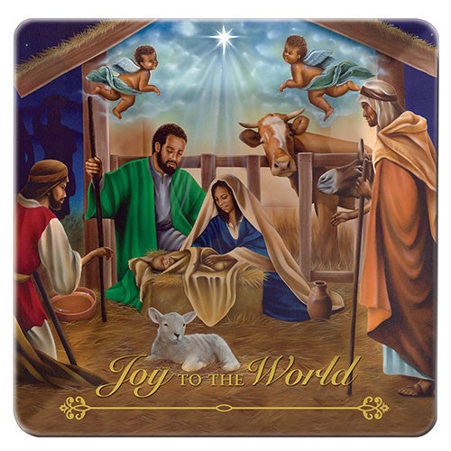 Joy to the World: African American Glass Decorative Plate