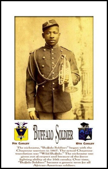 Buffalo Soldier: Bugle (Framed) by Julian Madyun