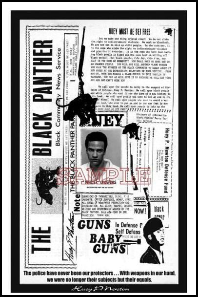 Huey P. Newton: Newspaper by Julian Madyun