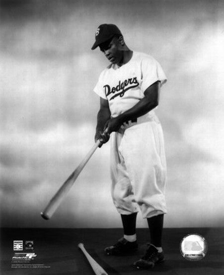 Jackie Robinson with Bat (1948) by Julian Madyun