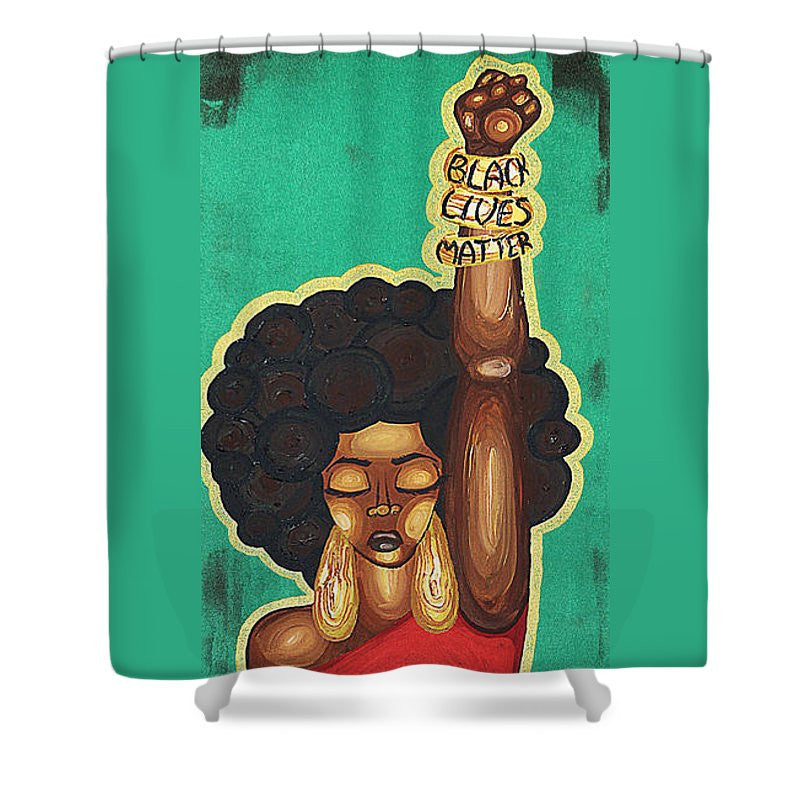 Fighting for Justice (Black Lives Matter) Shower Curtain by Aliya Michelle