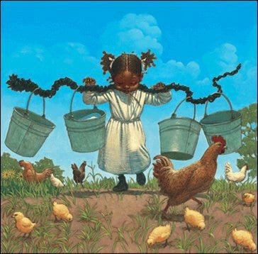 Buckets and Chickens by Kadir Nelson