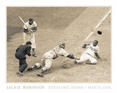 Jackie Robinson Stealing Home by Kadir Nelson