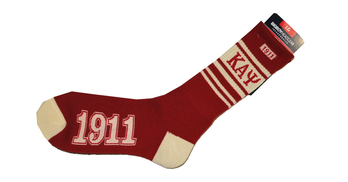 Kappa Alpha Psi Socks (Red) by Big Boy Headgear