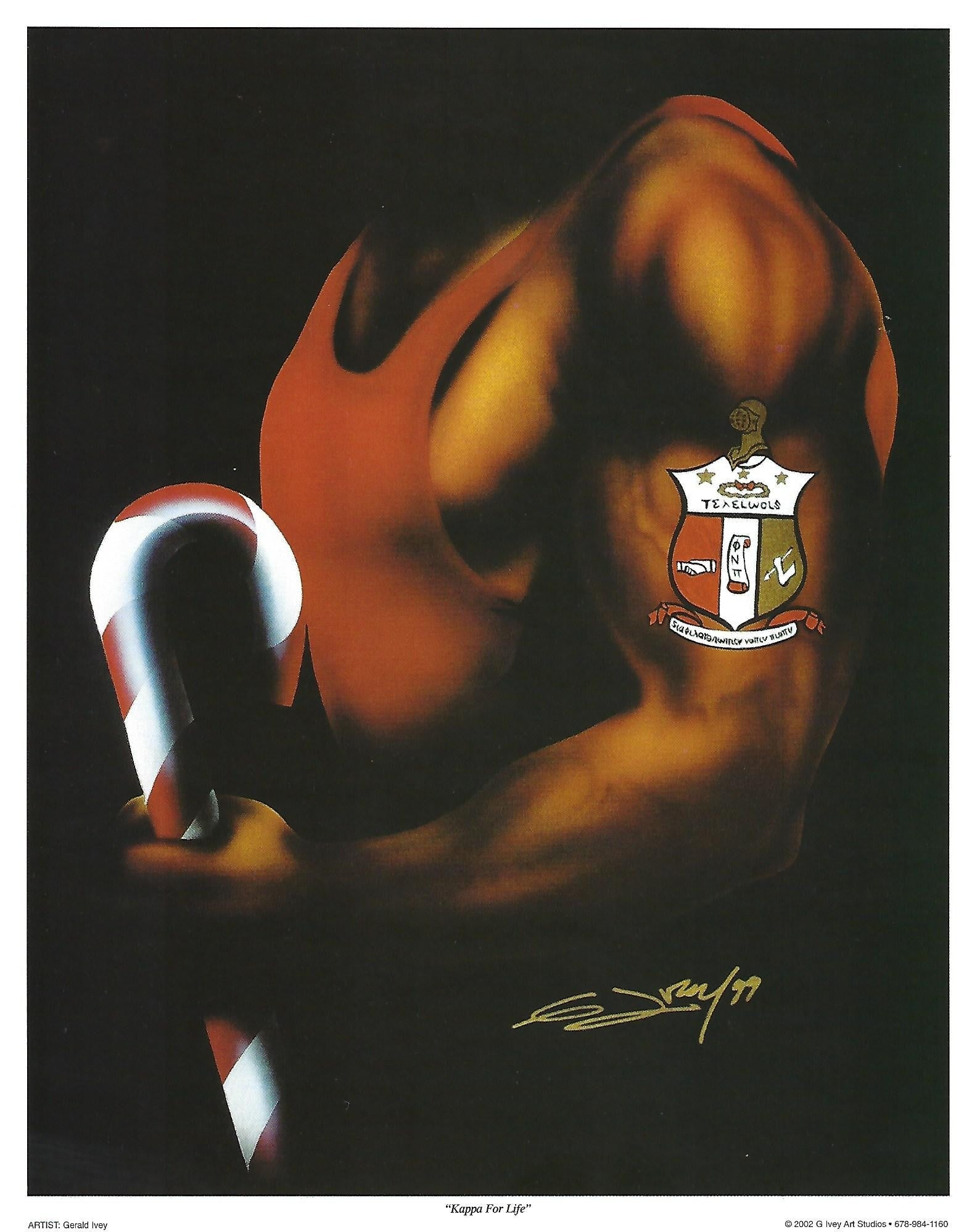 Kappa for Life: Kappa Alpha Psi by Gerald Ivey (Art Print)