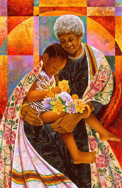 In Grandma's Hands by Keith Mallett