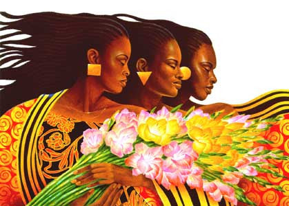 Three Sisters by Keith Mallett