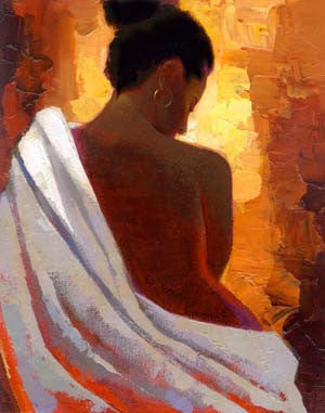 Crimson Nude by Keith Mallett