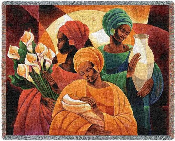 Caress Tapestry Throw by Keith Mallett