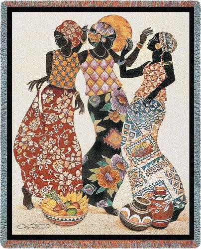 Jubilation Tapestry Throw by Keith Mallett