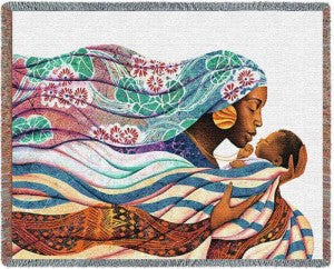 Loving Embrace Tapestry Throw by Keith Mallett