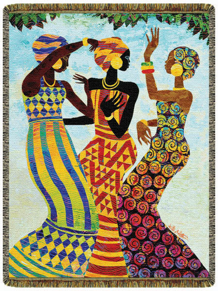 Celebratation Tapestry Throw by Keith Mallett