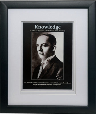 Knowledge: Carter G. Woodson by D'azi Productions (Framed)