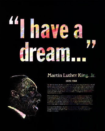 Great Black Americans: Martin Luther King Jr. Poster by Knowledge Unlimited
