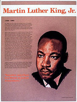 Heroes of the 20th Century: Martin Luther King Jr. Poster by Knowledge Unlimited