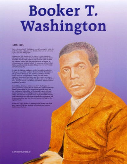 Great Black Americans: Booker T. Washington Poster by Knowledge Unlimited