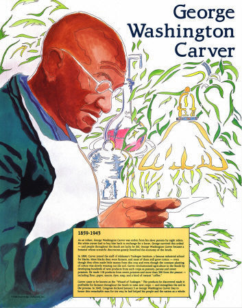Great Black Americans: George Washington Carver Poster by Knowledge Unlimited