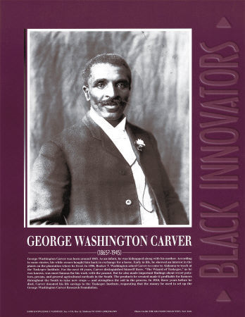 Black Innovators: George Washington Carver Poster by Knowledge Unlimited