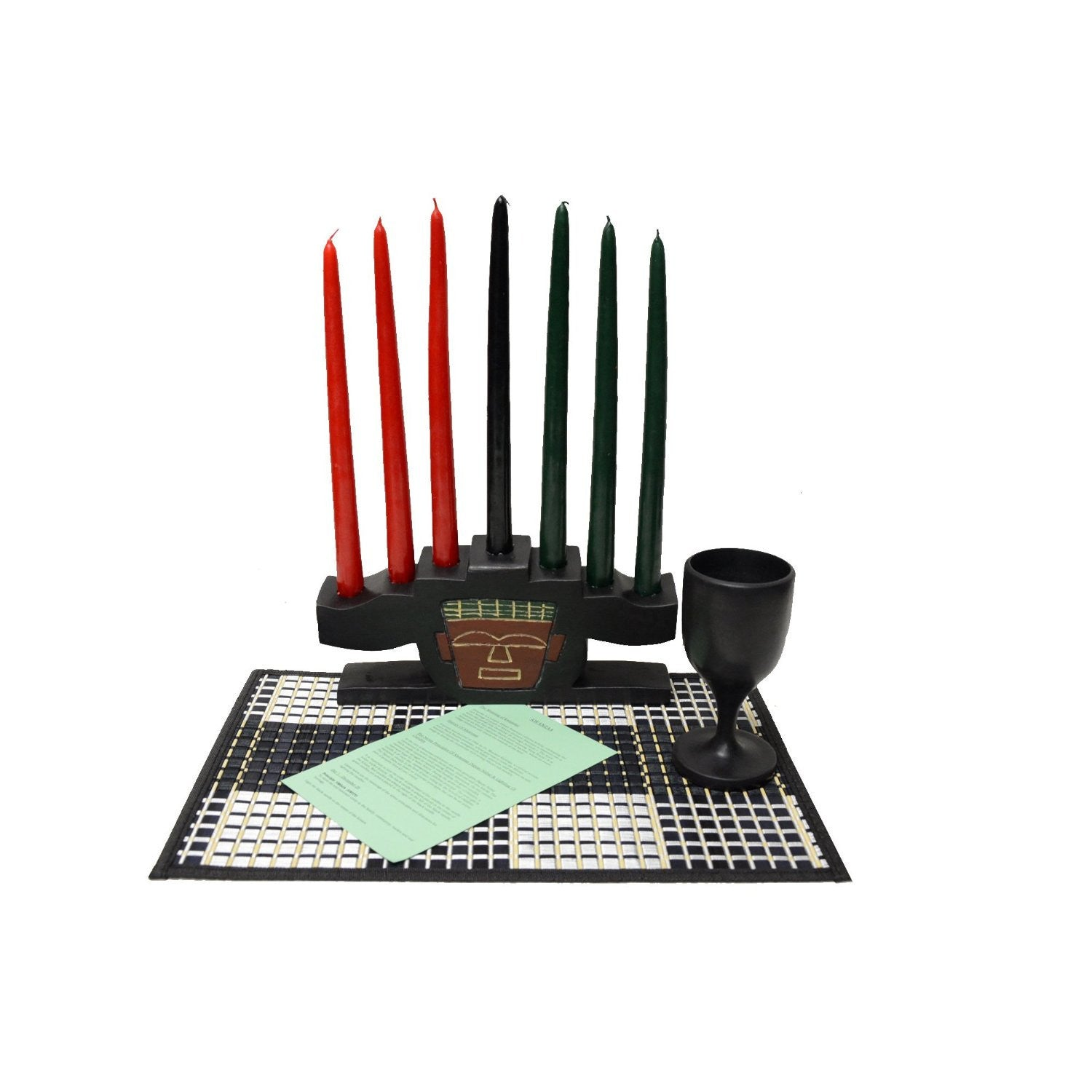 Kwanzaa Mask Celebration Set (Hand Made in Ghana) by African Heritage Collection
